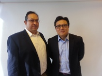 Min Park and Angel Orrantia from SK Telecom Americas.