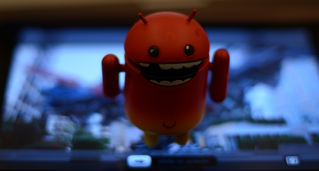 Red Android mascot