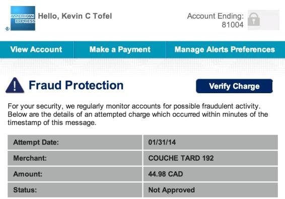 amex fraud