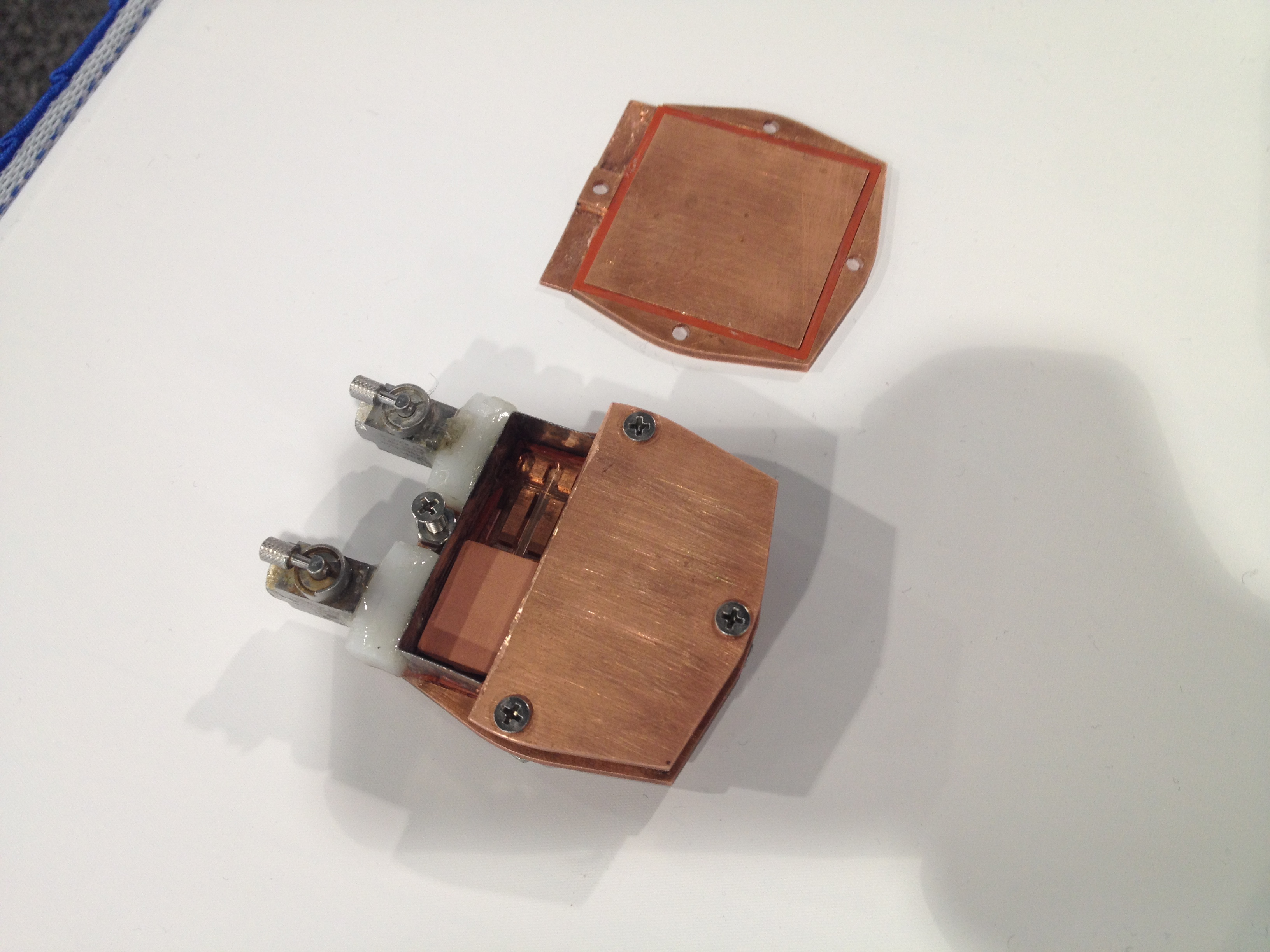 MIT researchers prototypes of thermal battery cells for an electric car.