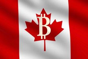 Canada bitcoin flag