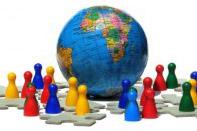 crowd globe