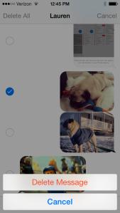 delete iphone texts