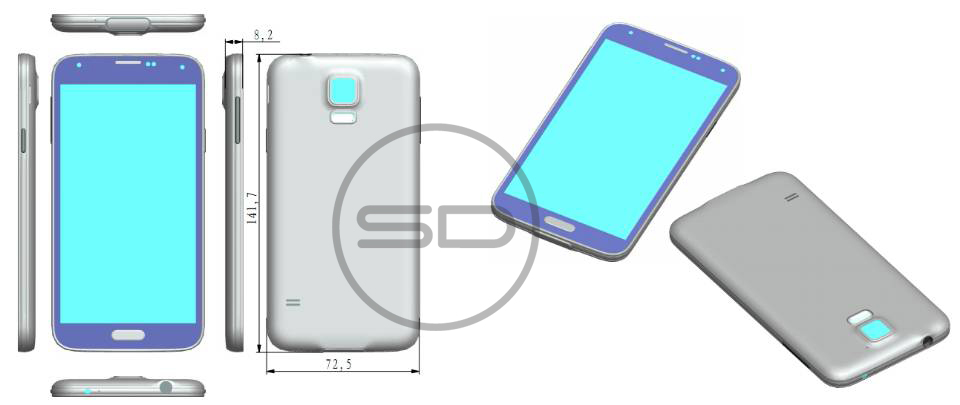 Galaxy S5 design leak