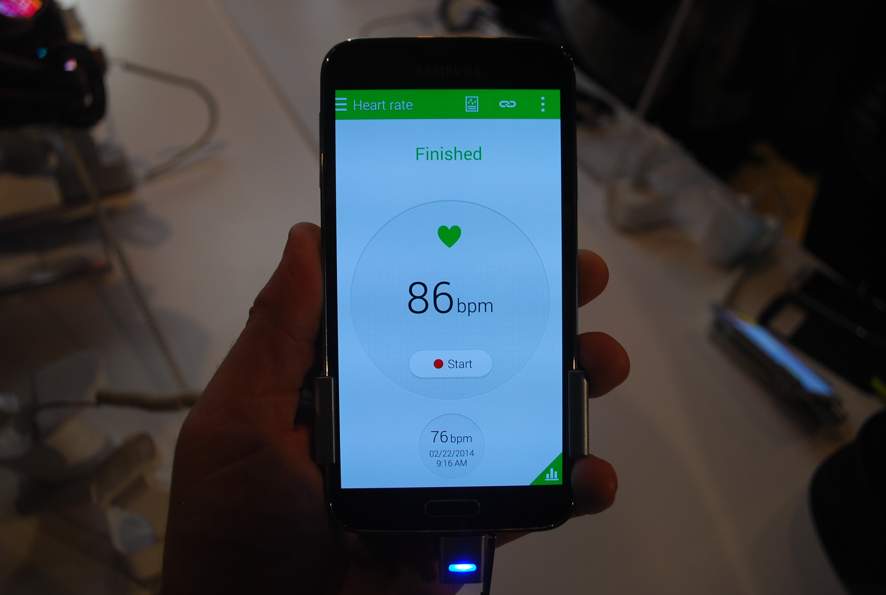 Galaxy S5 heart rate