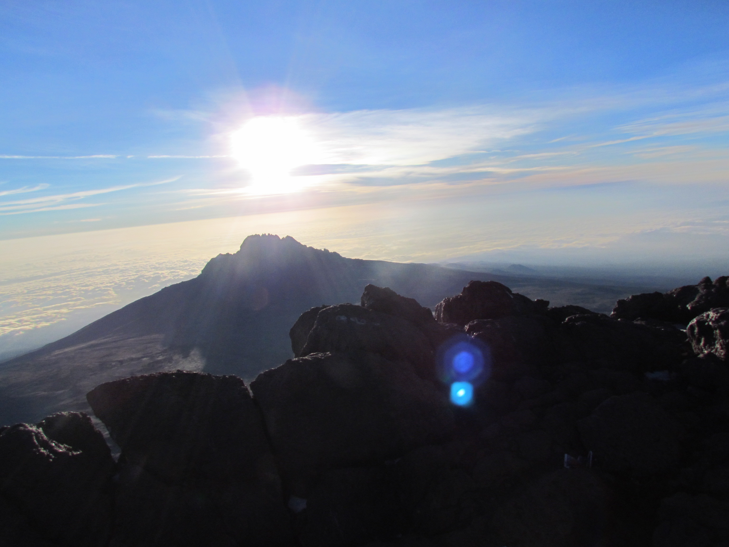 The view from the top of Mount Kilimanjaro, where a satellite hotspot would have been handy