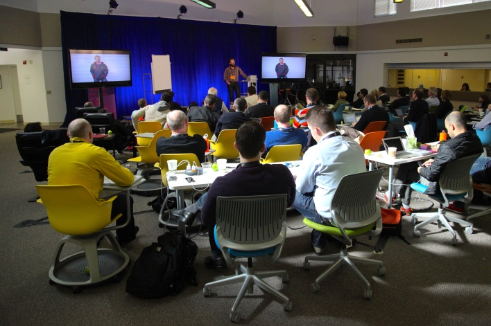 Singularity University's classroom on the Nasa Ames campus. Photo by Signe Brewster.