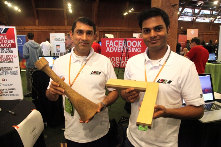4 AXYZ founder Samir Shah, left, said the startup is ready to go ahead with manufacturing furniture as soon as it finds funding. Photo by Signe Brewster.