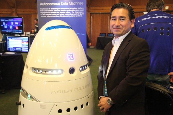 CEO William Santana Li with a K5. Photo by Signe Brewster.