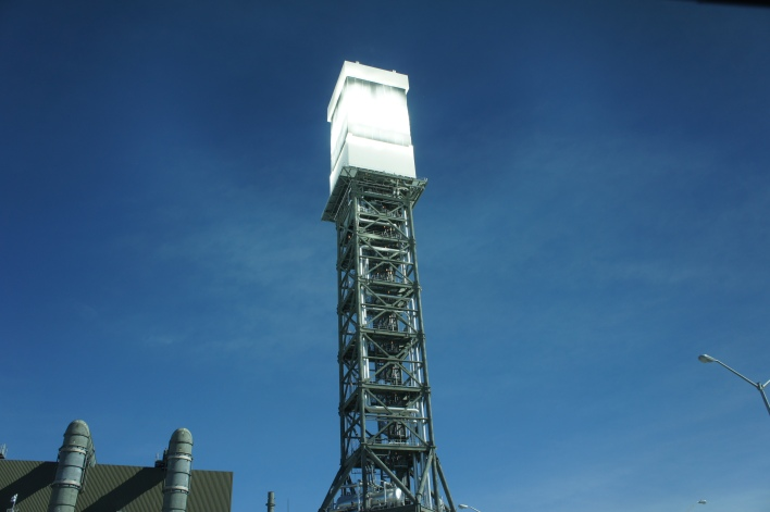Ivanpah with the boiler heated and on.