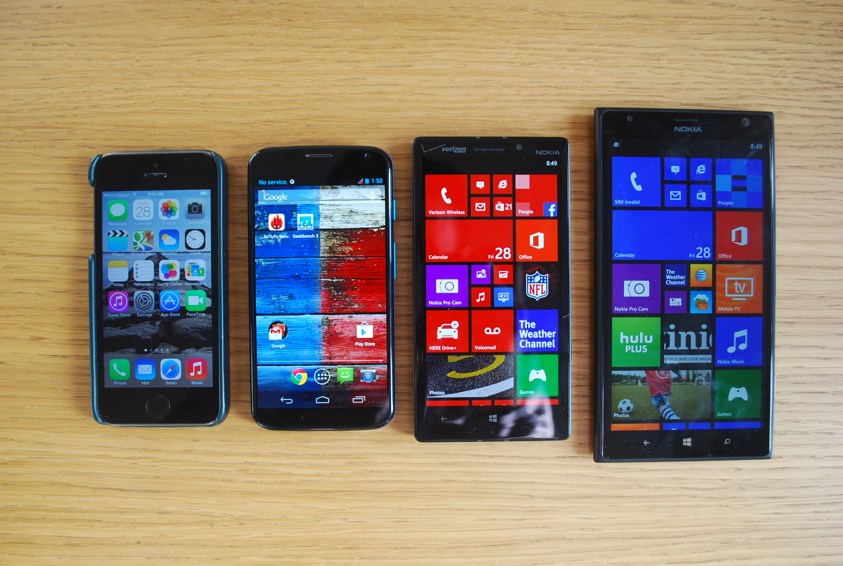 Lumia Icon group comparison