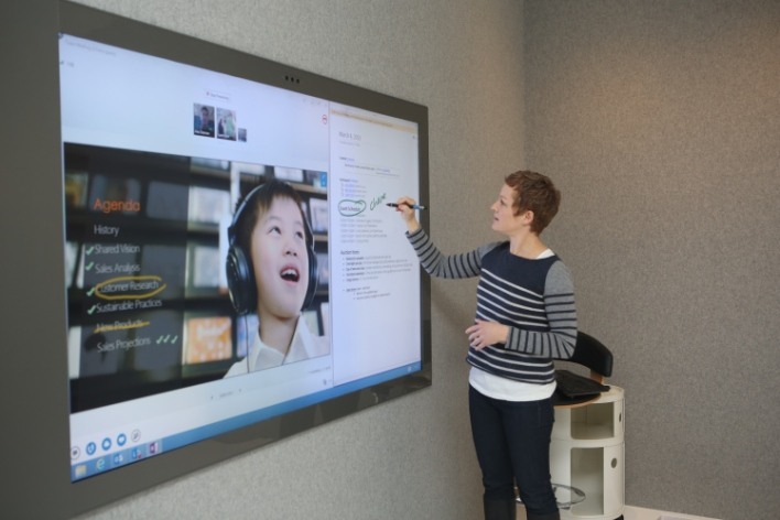 Touchscreen telepresence is just one area where many technologies converge. Source: Microsoft