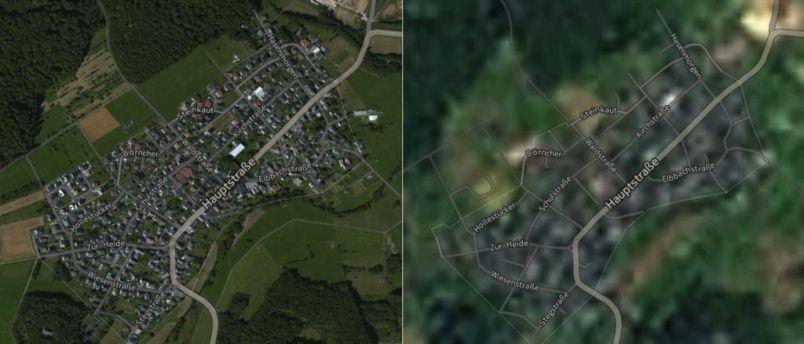 nokia here satellite image