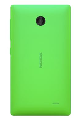 Nokia X green back