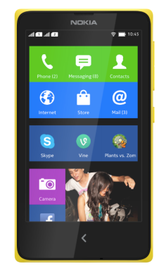 Nokia X home screen
