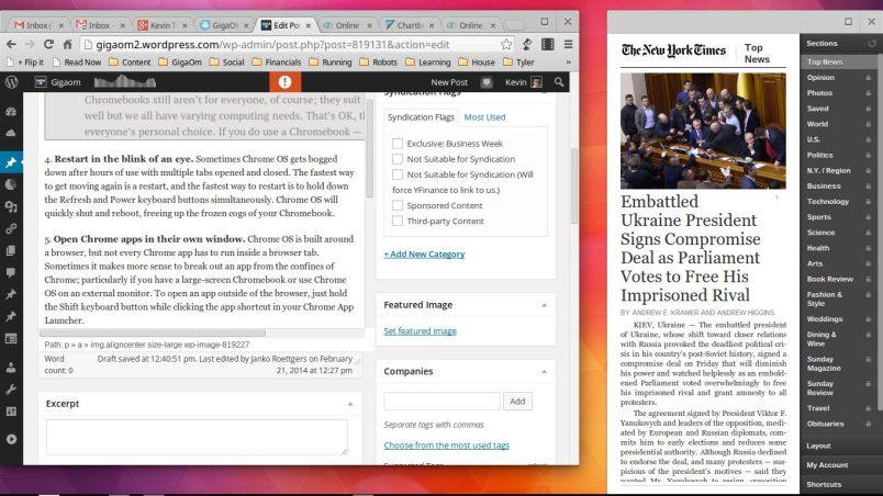 NYT outside of Chrome browser