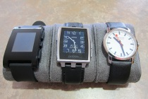 pebble steel, pebble and mondaine
