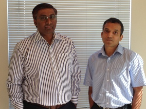 Xervmon Co-founders Babu Jayaram (right) and Sudhi Seshachala.