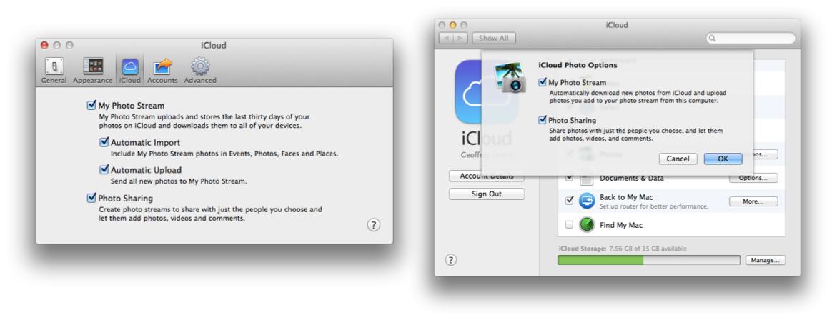 Photo Streams on OS X