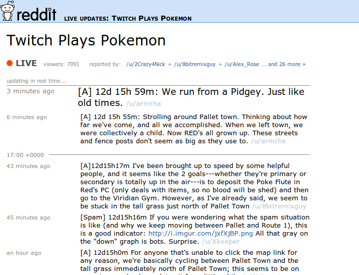 Reddit live-blog Twitchy