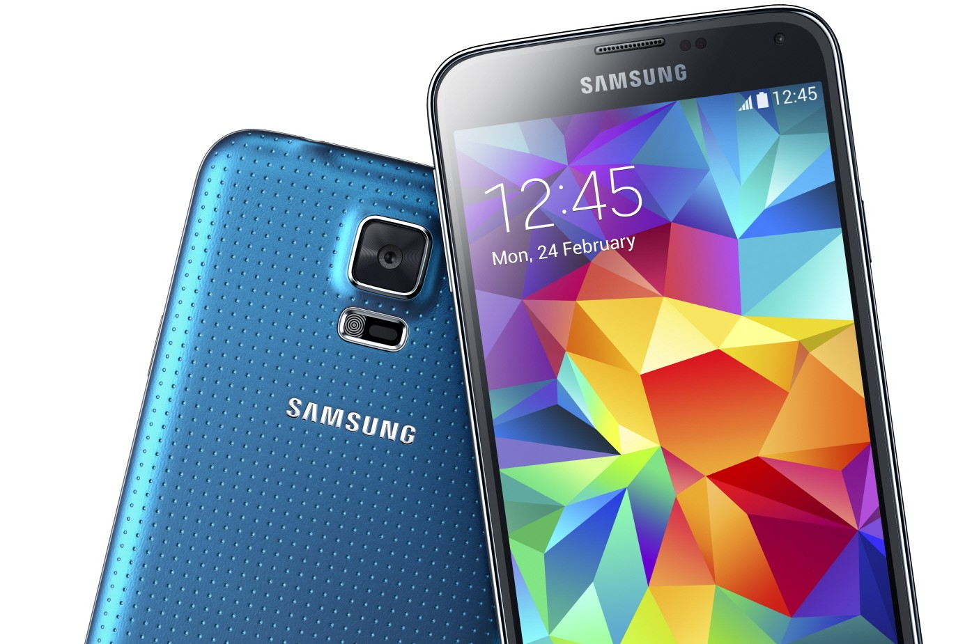 Samsung Galaxy S5 in blue