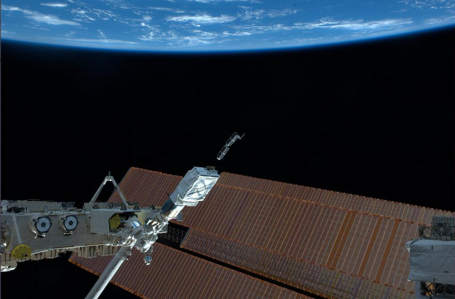 The first photo sent back by the Doves. Photo courtesy of Planet Labs.