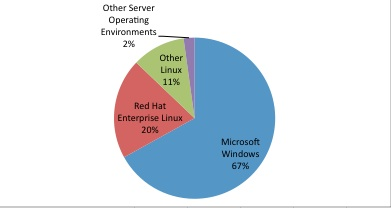 Server operating environment market share