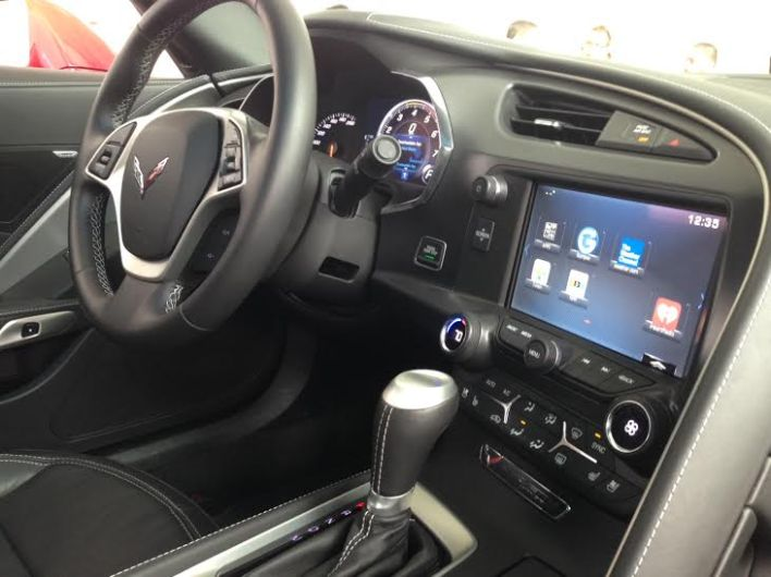 2015 Chevy Corvette Interior (photo by Kevin Fitchard)
