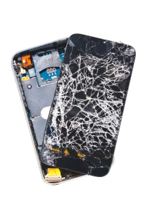 broken phone, smashed cell phone