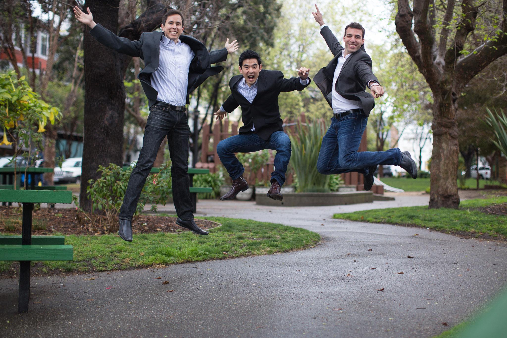 ZenPayroll founders (l to r) Joshua Reeves, Edward Kim, Tomer London,