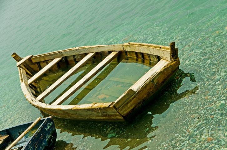Sinking row boat