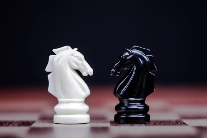 chess piece standoff