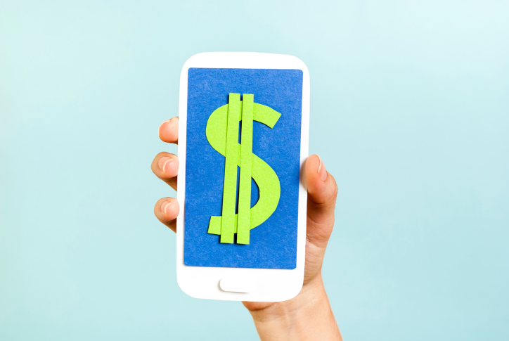 Smartphone dollar, mobile data revenues