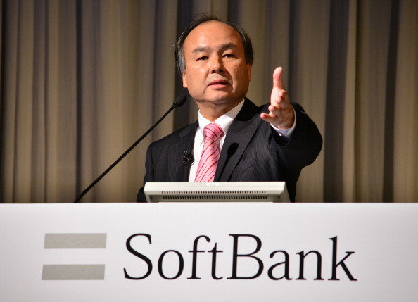 Japan's SoftBank Corp. founder and President Masayoshi Son holds a press briefing to announce the company's financial results in Tokyo on February 12, 2014. SoftBank said February 12 its nine-month net profit soared 58 percent thanks to strong iPhone sales, but third-quarter earnings suffered because of losses in its newly acquired Sprint Nextel unit. KAZUHIRO NOGI/AFP/Getty Images