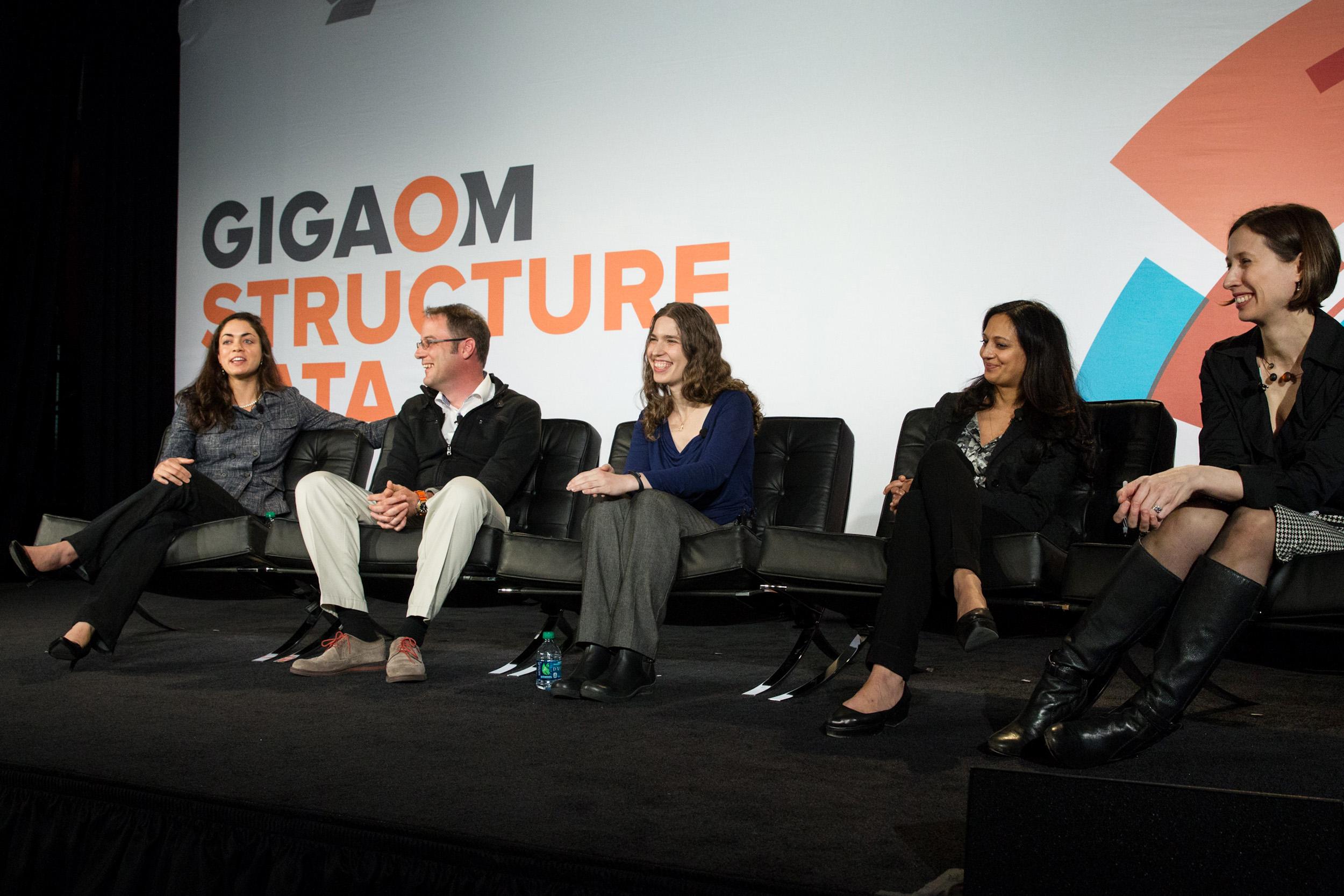 Shivon Zilis, VC, Bloomberg Beta; Sven Strohband, Partner and CTO, Khosla Ventures; Hilary Mason, Data Scientist in Residence, Accel Partners; Jalak Jobanputra, Managing Partner, FuturePerfect Ventures.