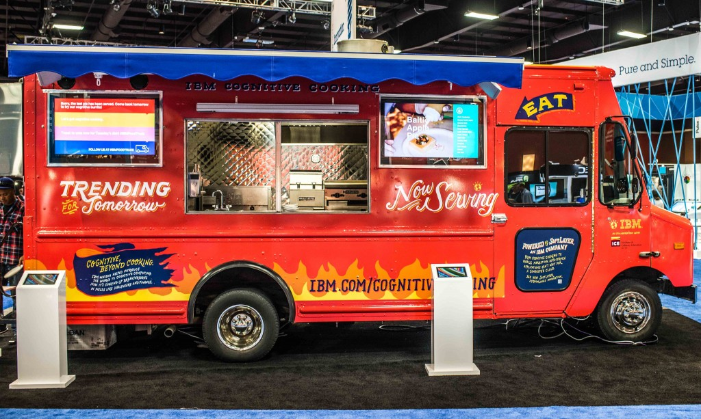 AI now comes in a food truck. Source: IBM