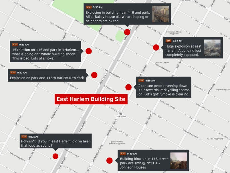 Dataminr.Harlem Explosion Map