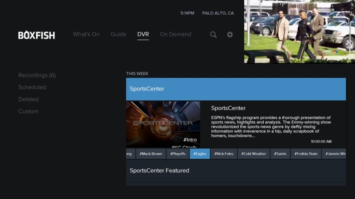 A DVR that indexes show segments by topic - and potentially also serves up ads based on the topics you like or skip.