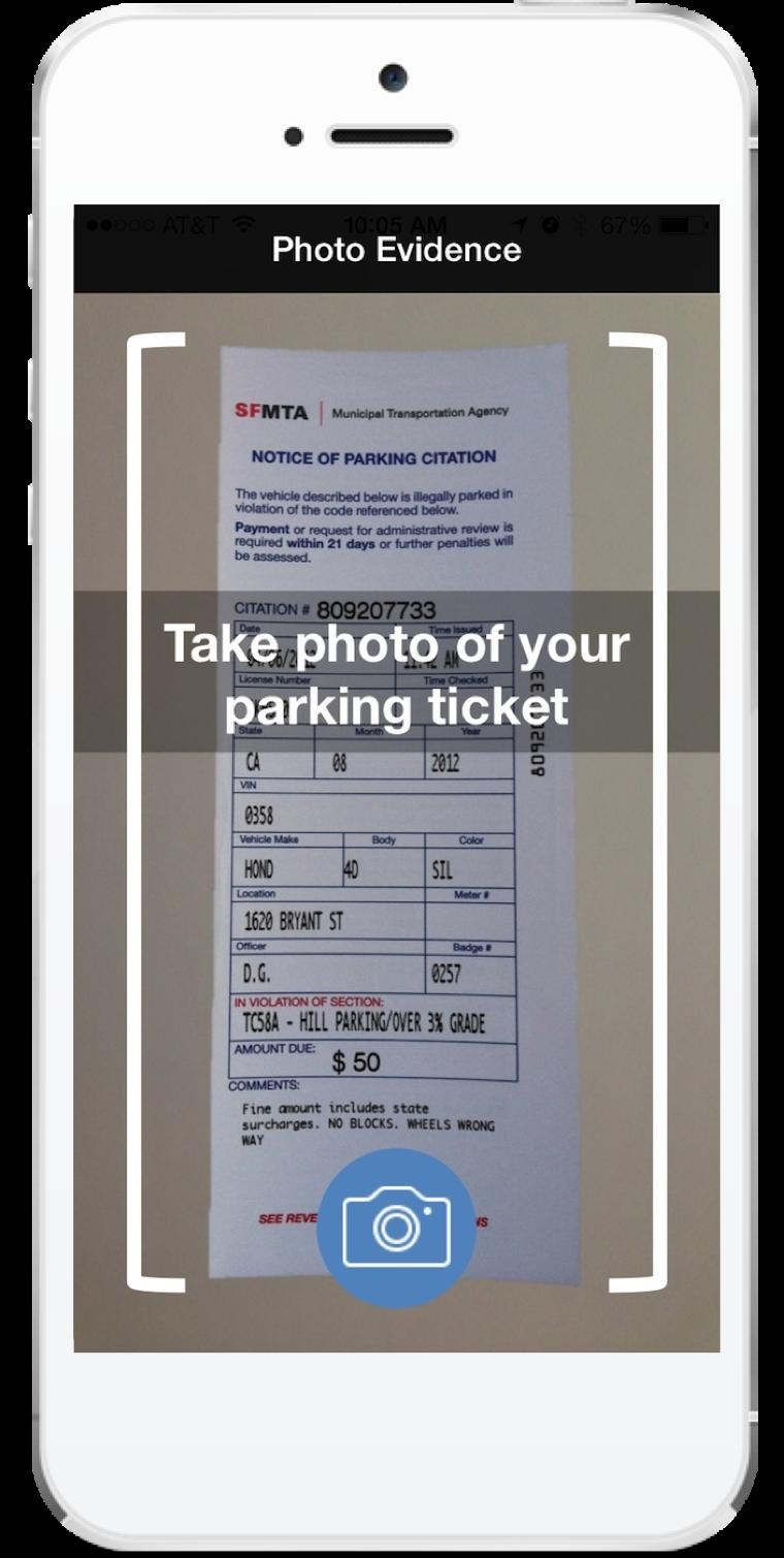 Fixed ticket photo
