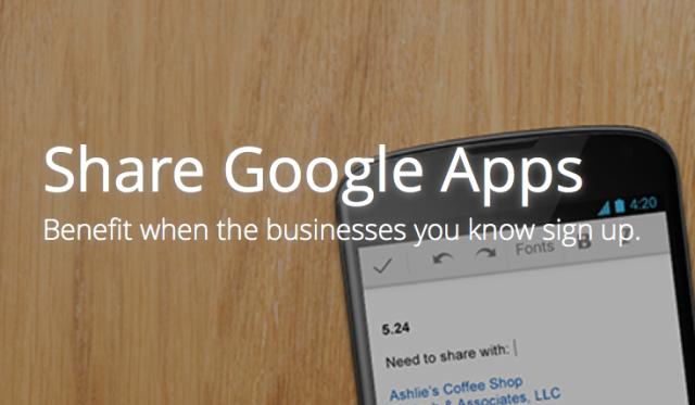 Google Apps referral