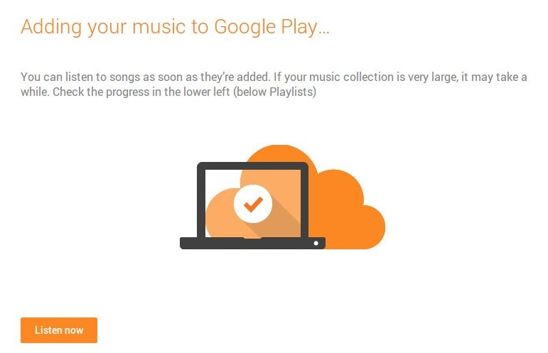 Google Music chrome upload