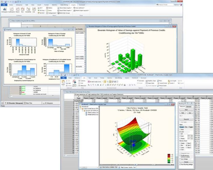 A screenshot of the Statistica Data Miner product.