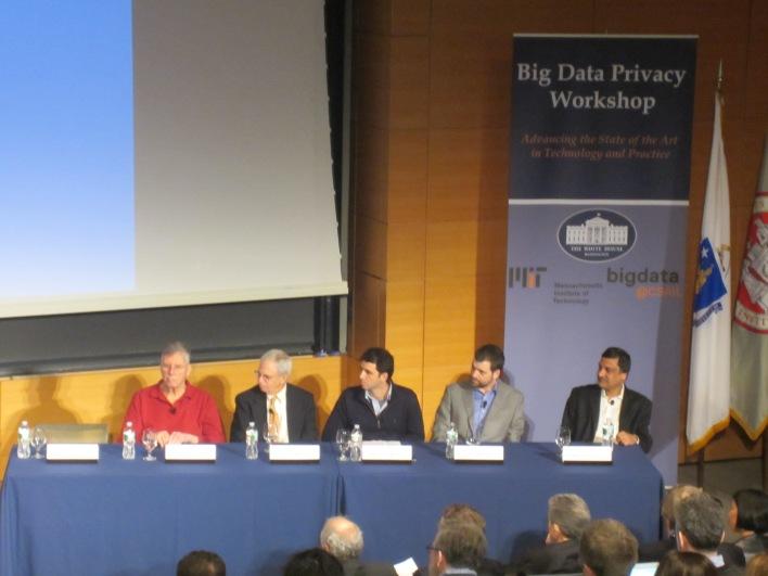 Panelists (from left): Michael Stonebraker; John Guttag; Manolis Kellis; Sam Madden; Anant Agarwal.