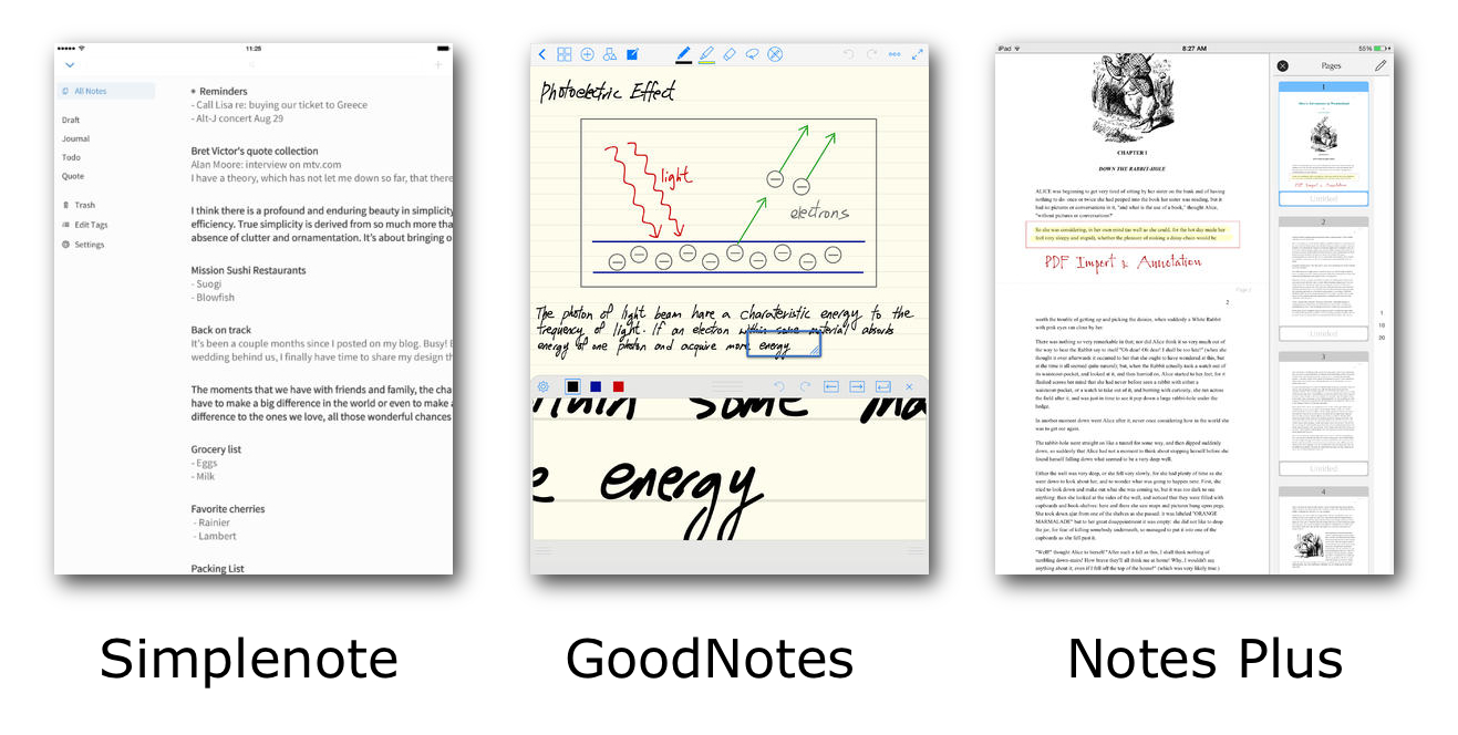 Note App Screenshots