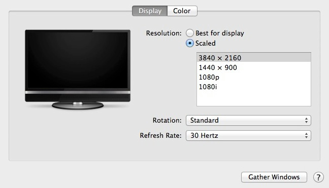 osx 10-9-3 display scaling
