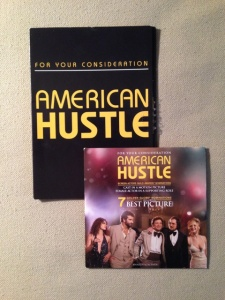 "Screeners of ""American Hustle"" for PGA members (top) and SAG members (bottom), provided by a member of both guilds."
