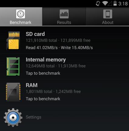 SanDisk A1 benchmark