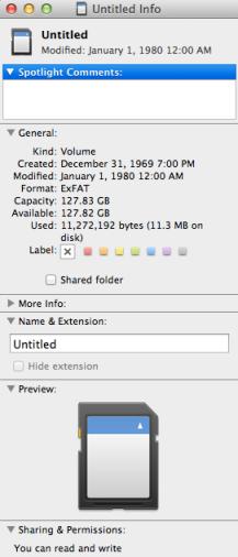 SanDisk MacBook capacity
