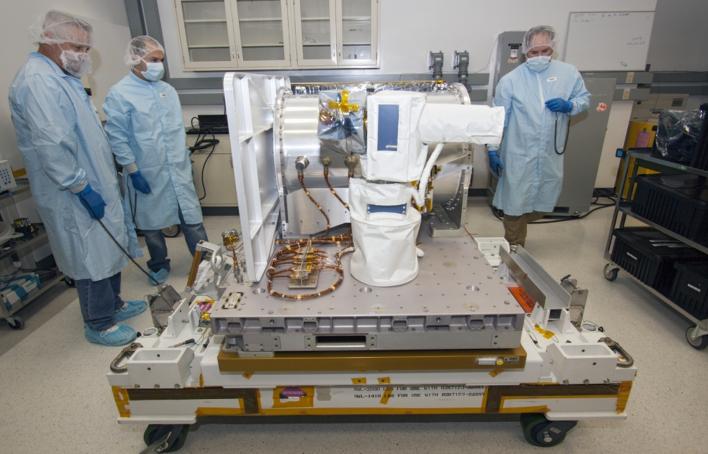 OPALS at a NASA test facility last year. Photo courtesy of Jim Grossmann/NASA.
