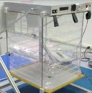 A prototype vegetable box. Photo courtesy of NASA.